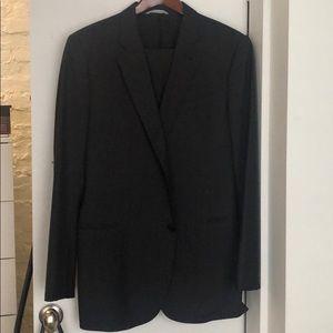 Armani Collezioni Pinstripe Men's Suit (gray) 44L